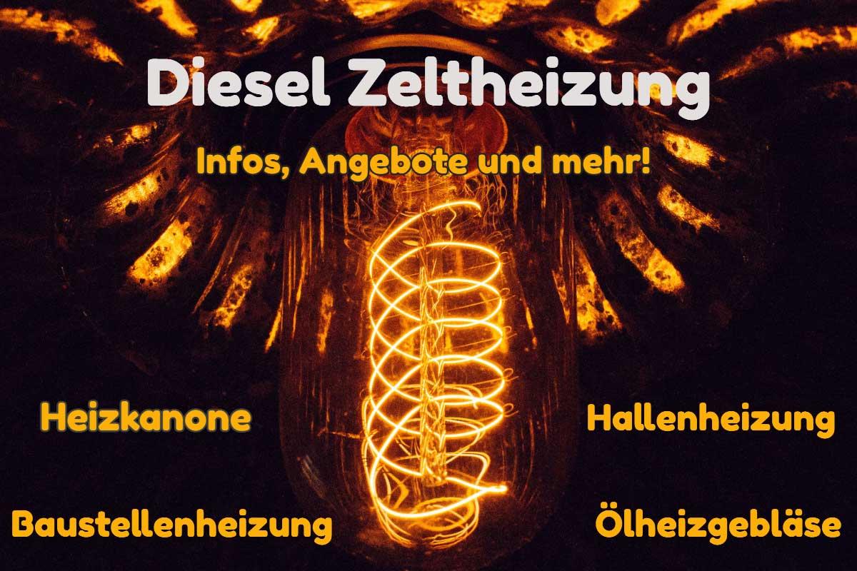 Diesel Zeltheizung - Heizkanone, Hallenheizung